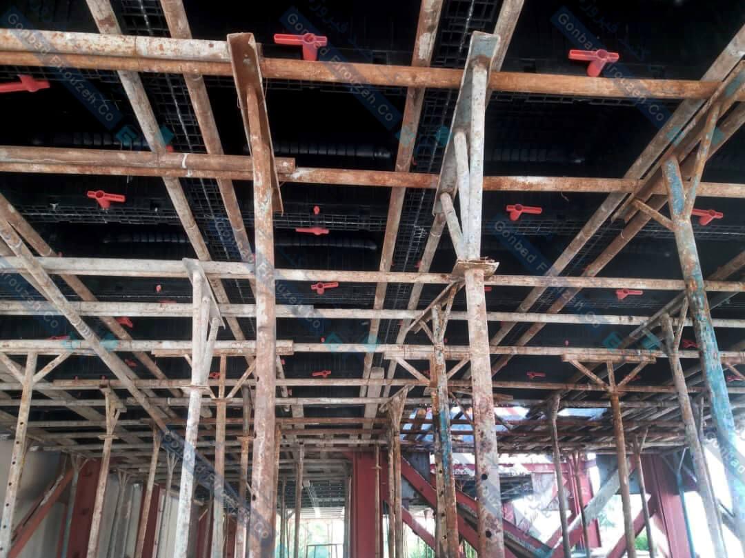 زیرسازی سقف وافل با چوب