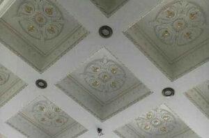 نمای زیر قالب سقف وافل