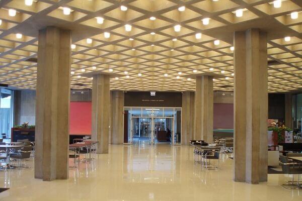 قالب سقف وافل در ساختمان اداری تجاری آمریکا